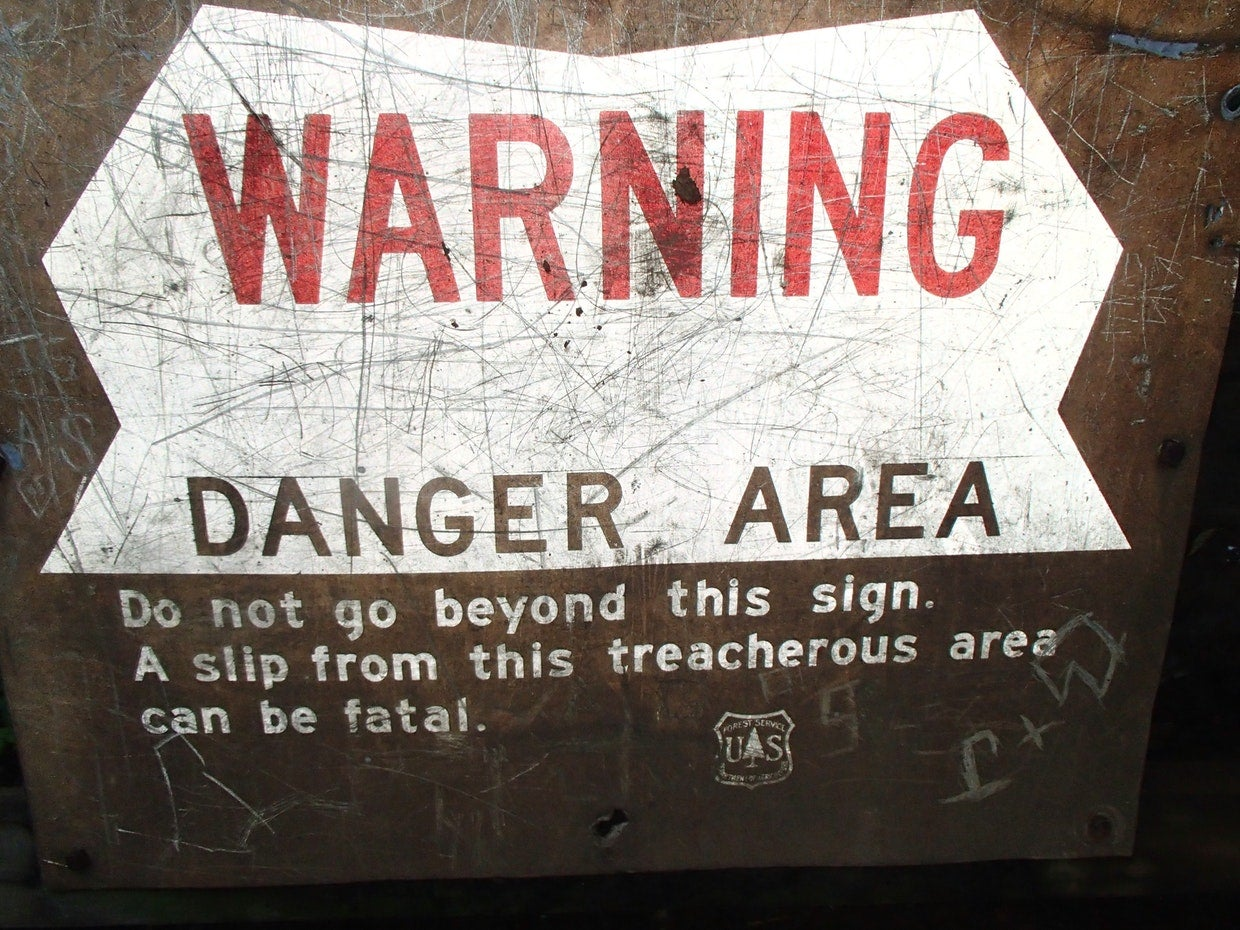 Image of a DeSoto Falls cautionary sign by The Dyrt Ranger Dave V.