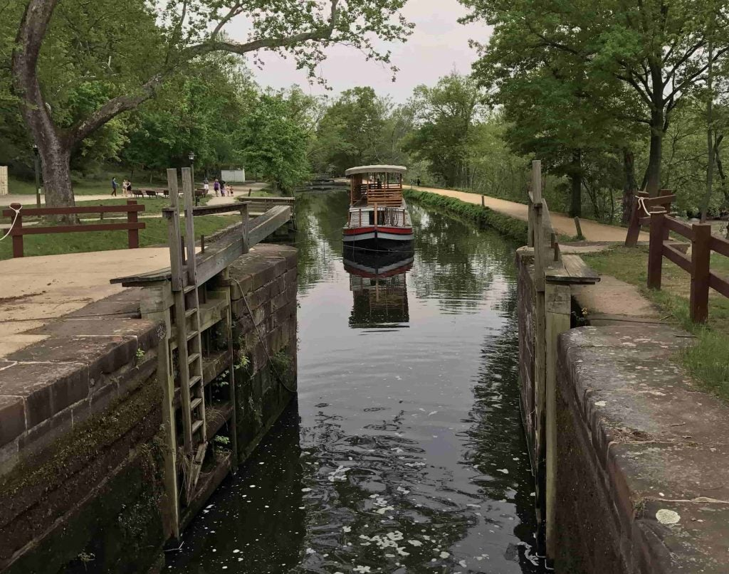 the local canal where the c&o canal towpath gets its name from