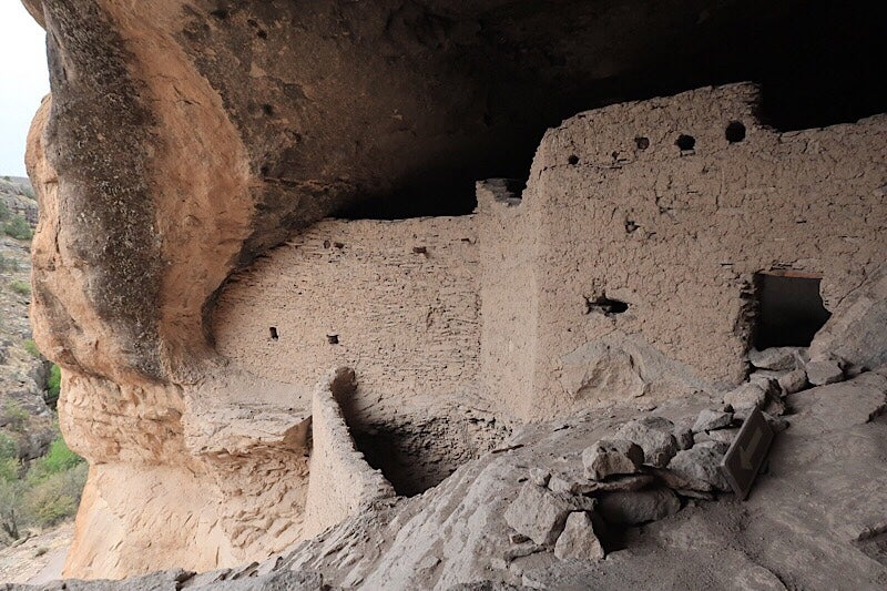 gila cliff dwellings up close