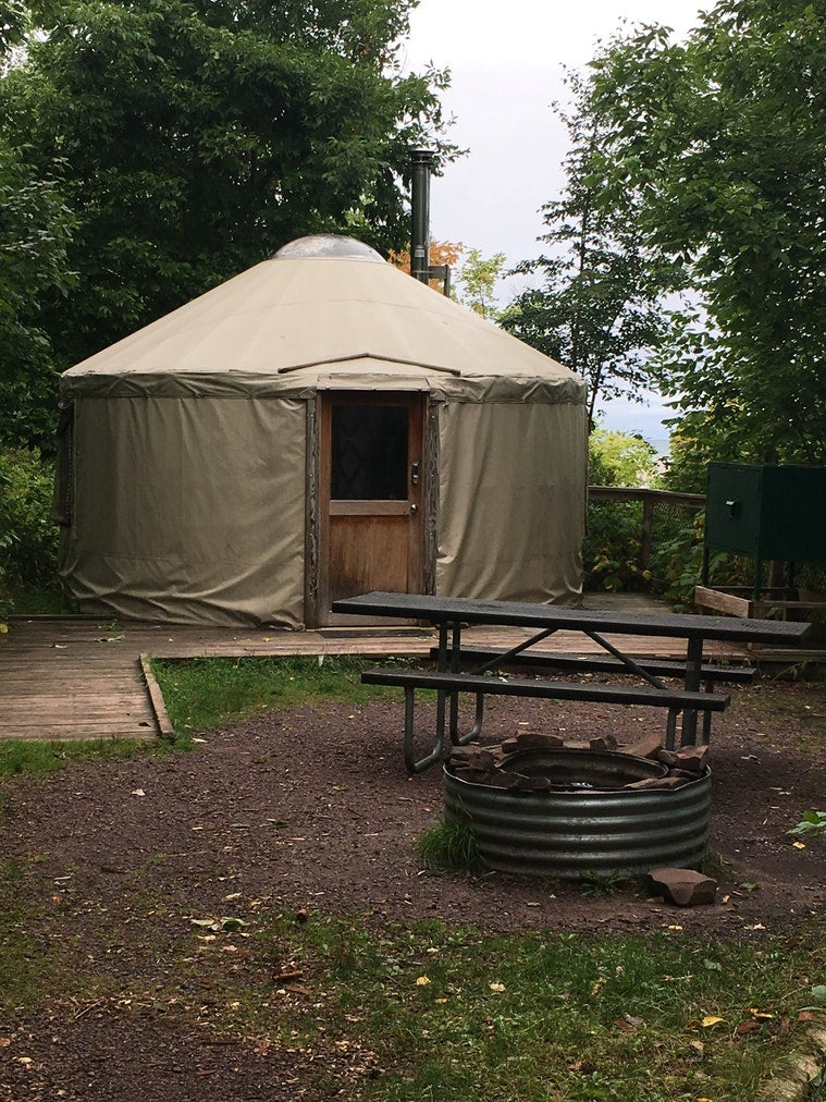 yurt camping in michigan