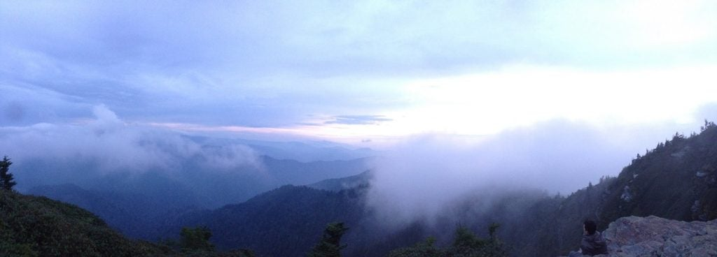 The famous blue Smoky Mountain Fog as seen from Mt. Leconte. Image from The Dyrt Ranger Ethan K.