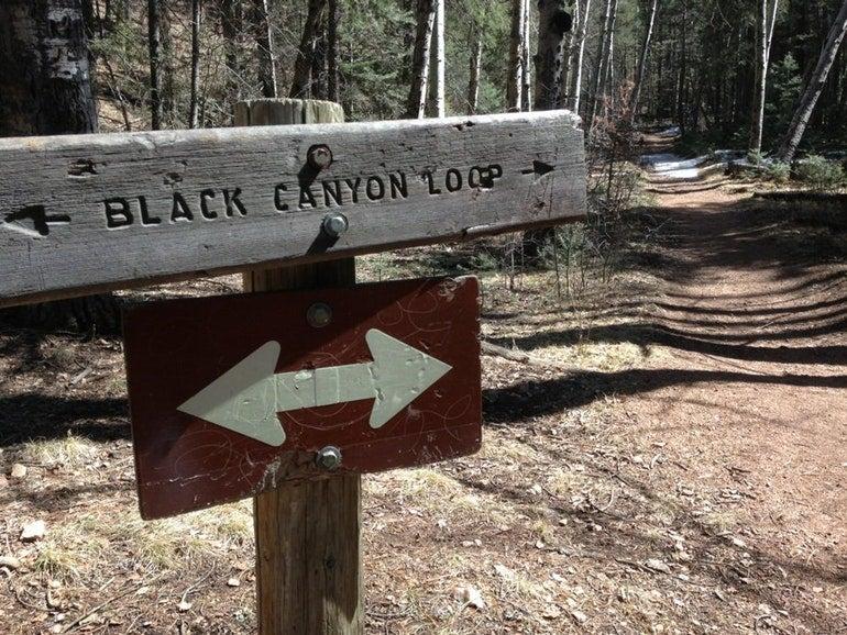 trailhead for black canyon loop near black canyon rv parks