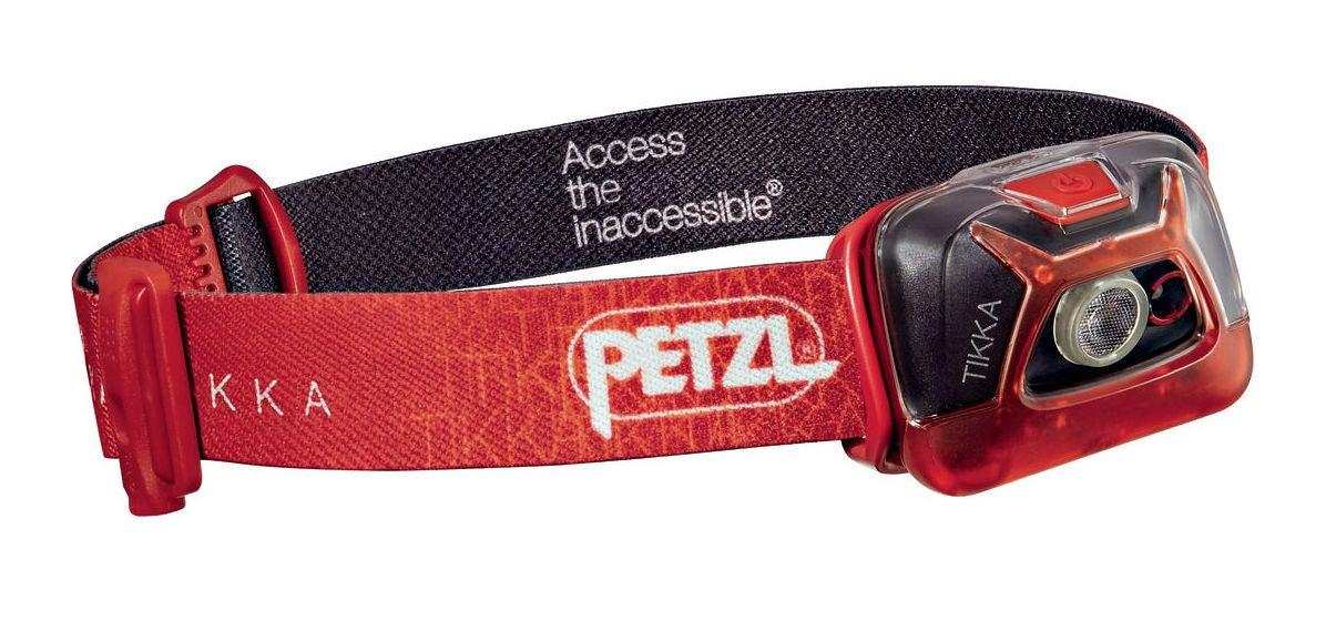 petzl headlamp in red