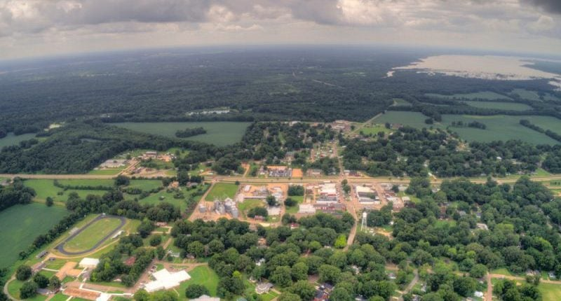 coldwater mississippi with arkabutla lake in the distance
