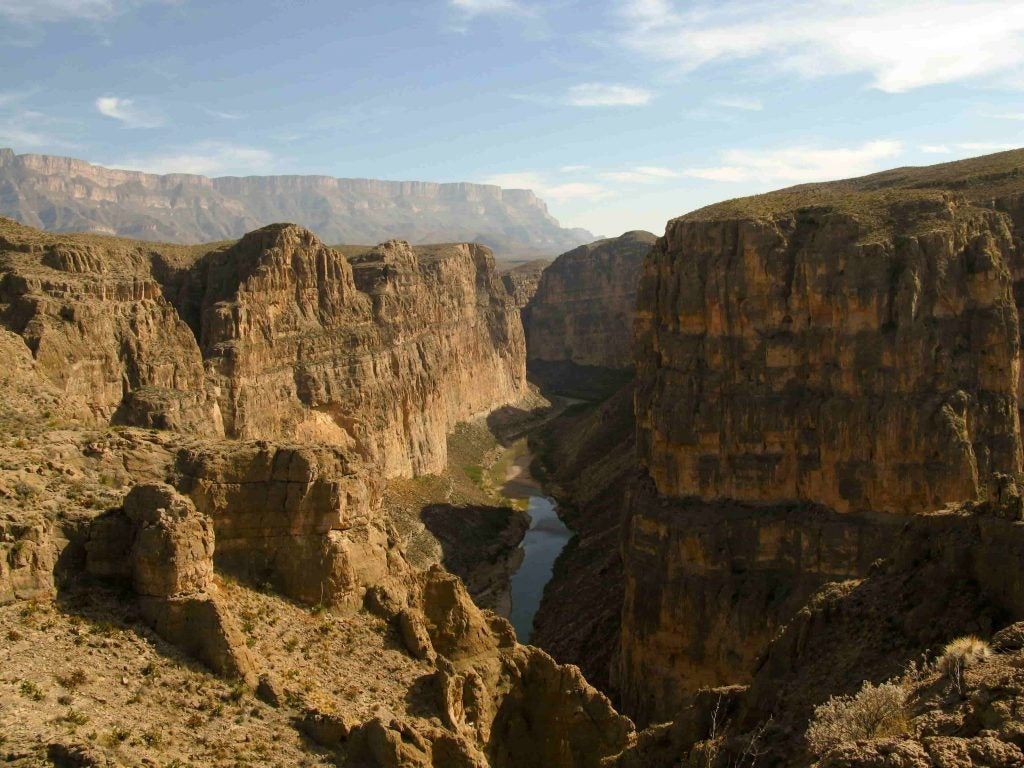panoramic view of boquillas canyon where the death in big bend occured