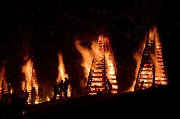 bonfire pires at festivals in Louisiana