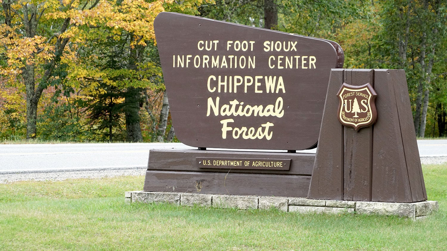 Chippewa National Forest sign.