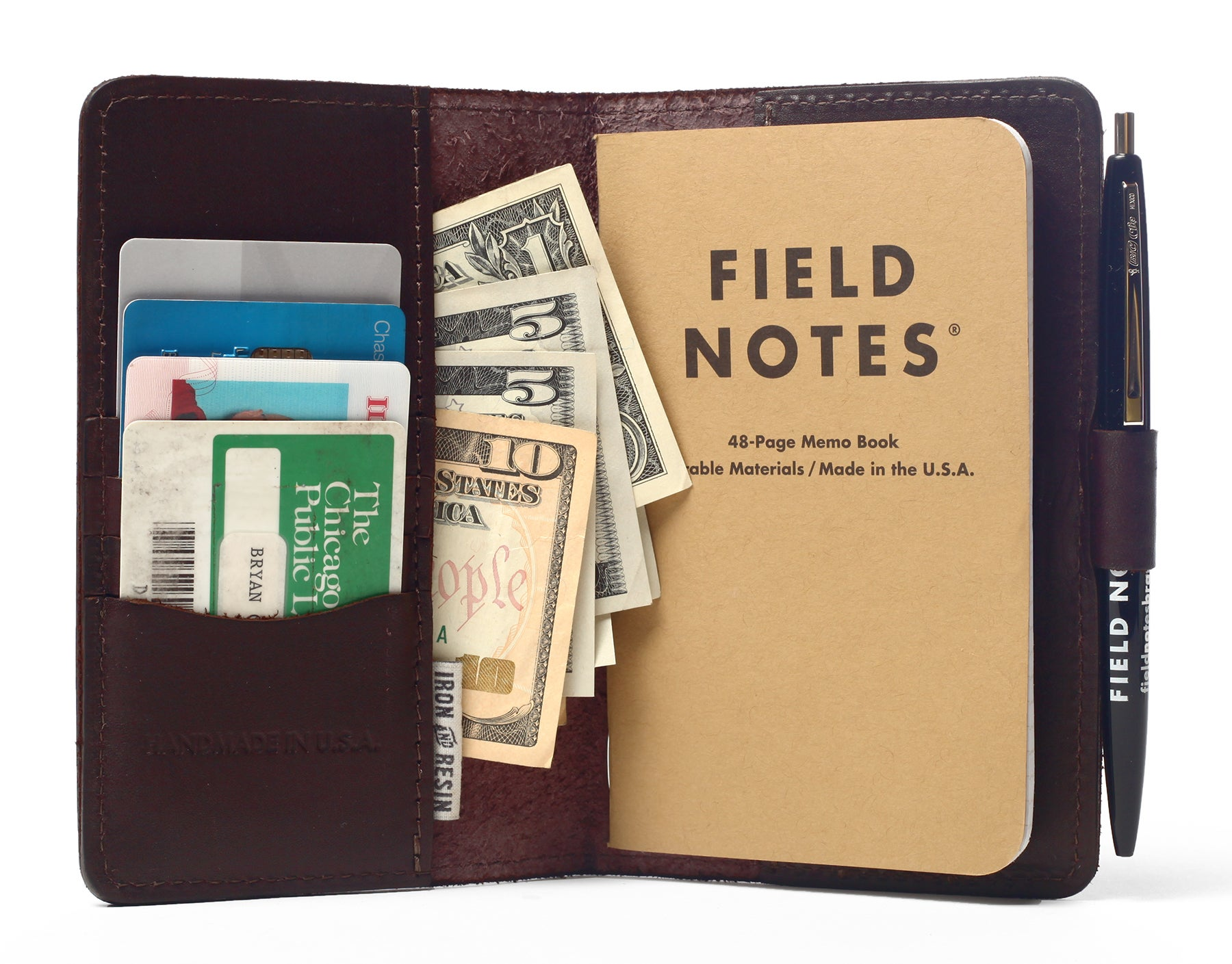 field notes camping journal with wallet features