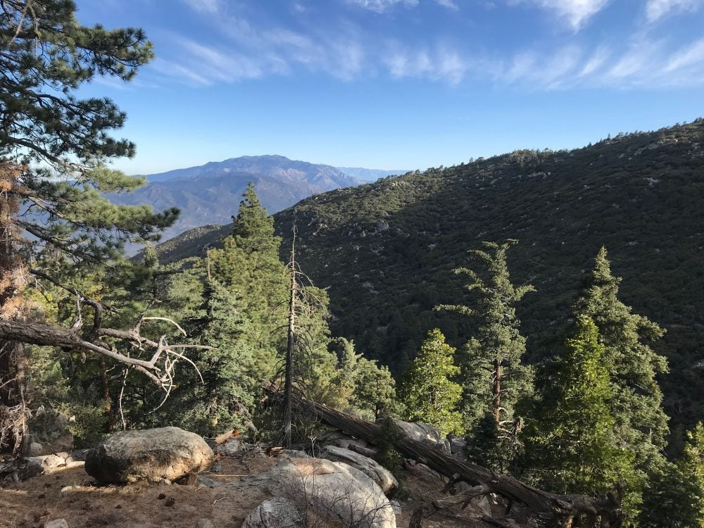 panoramic mountain views from lookout along the Tahquitz Canyon trail