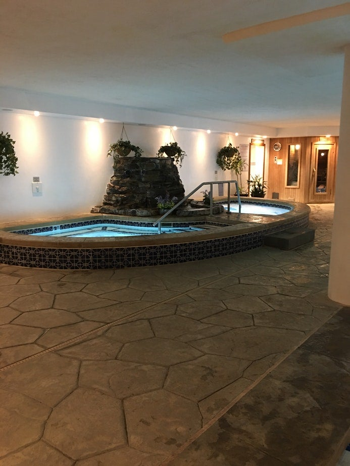 indoor hot tub at normandy farms