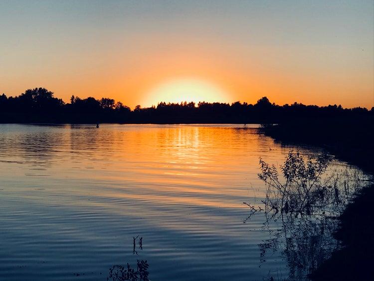 lake sakakawea state park north dakota sunset