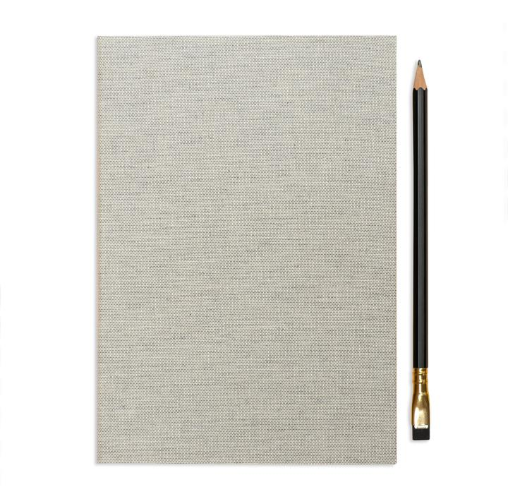 ointment co gray tweed camping journal with a black pencil