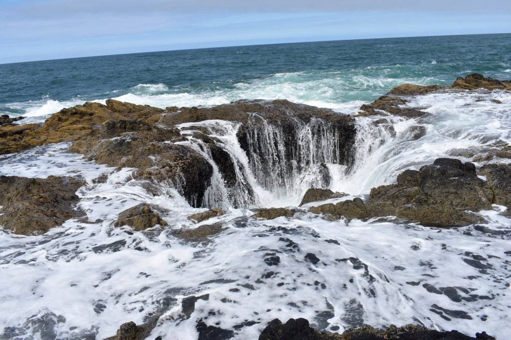 Thor's Well at Cape Perptua