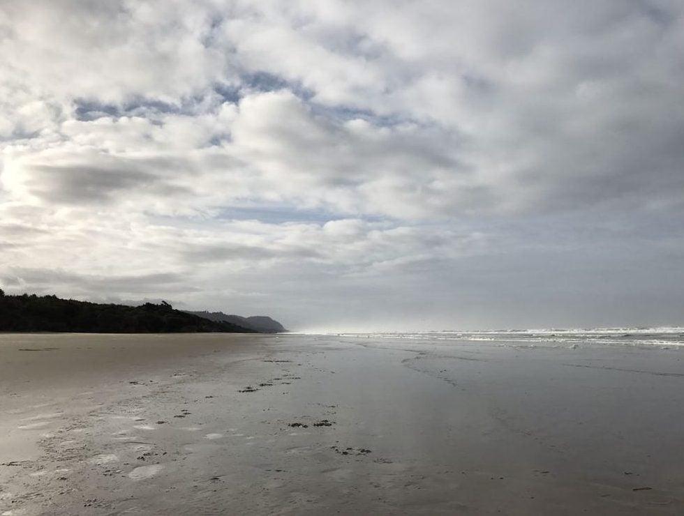 ocean waves on sandy beach
