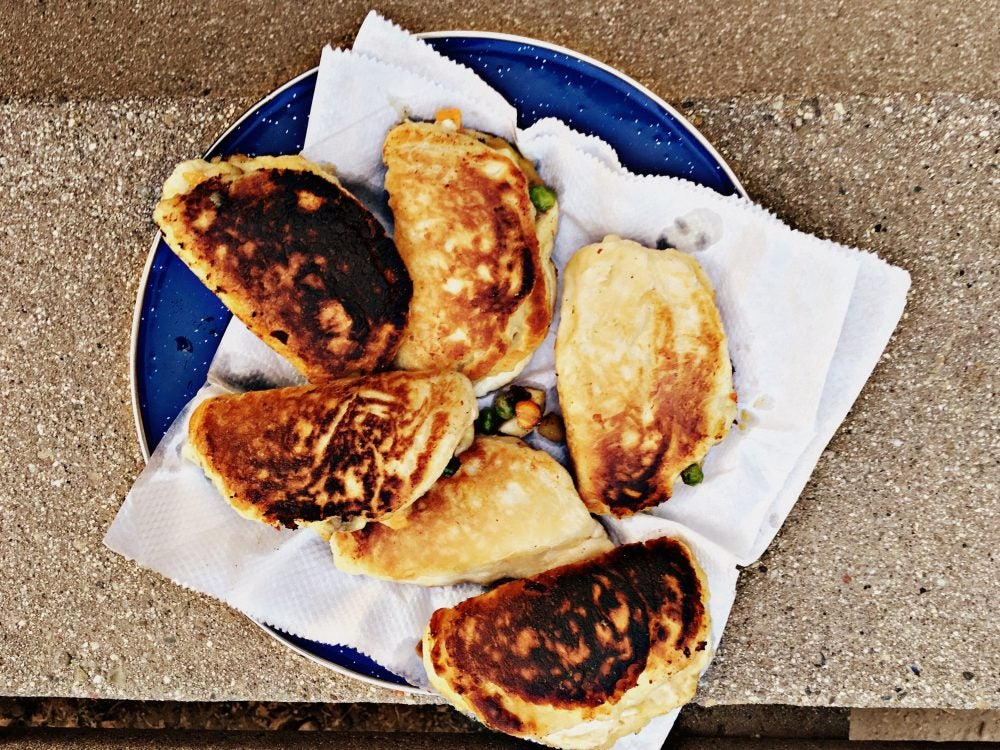 Easy camping recipes Mountain House Campfire Beef Hand Pies