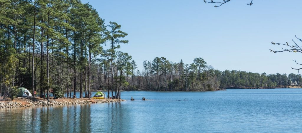 panoramic water views on a clear day at dreher island state park
