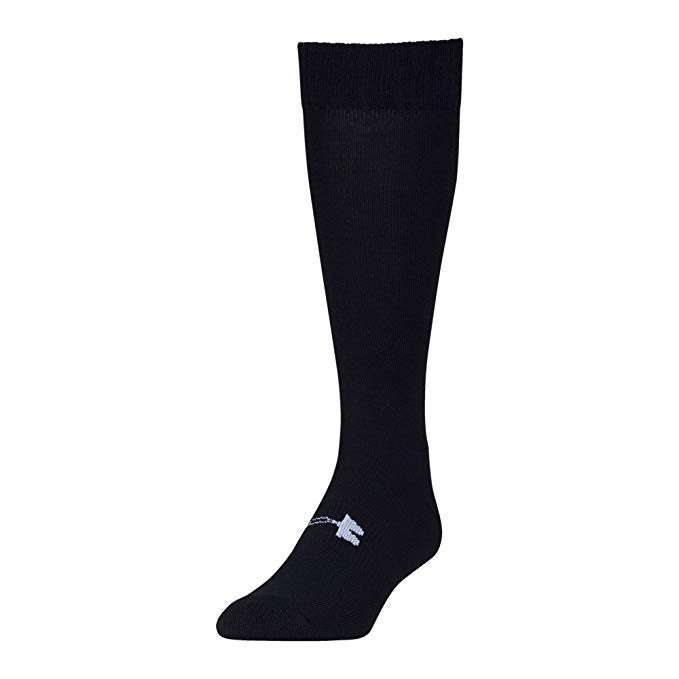 black under armour socks on a white background