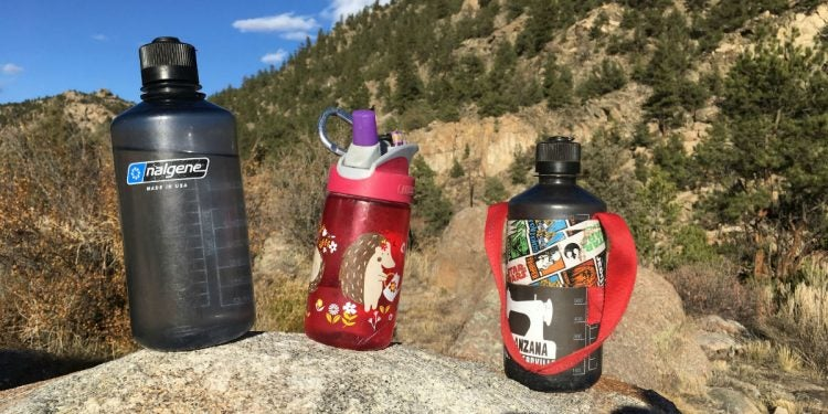 water bottles to bring camping
