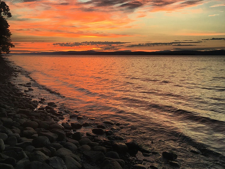 grand isle state park lake champlain vermont sunset