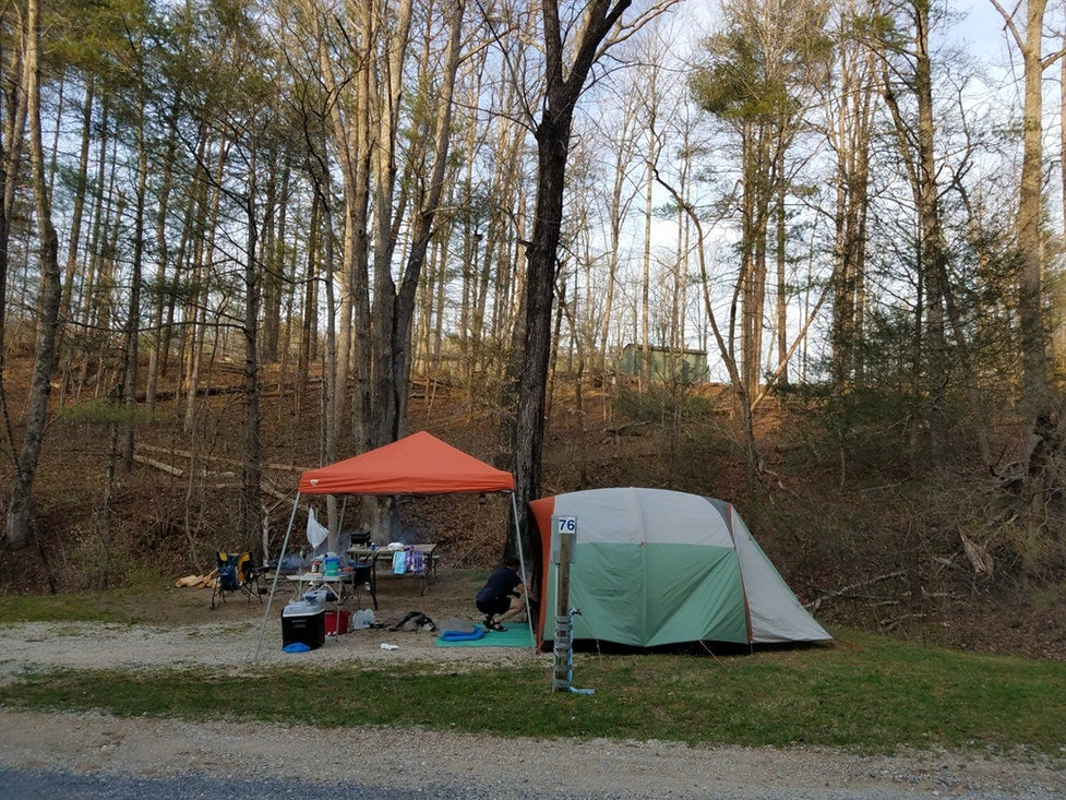 Middle Creek Campground in Blue Ridge Mountains Virginia