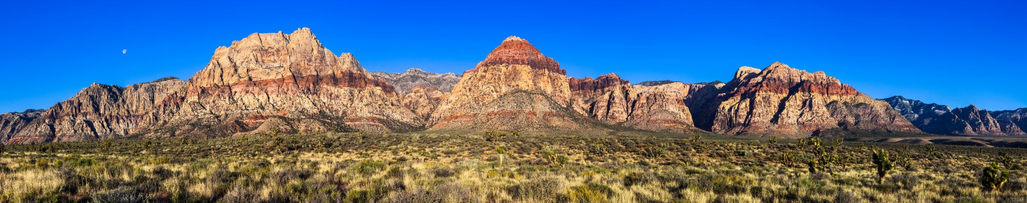Panoramic photo of Nevada mountains in the desert