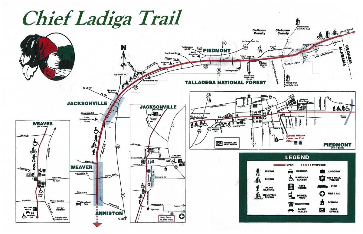 Image of the Chief Ladiga Trail Map