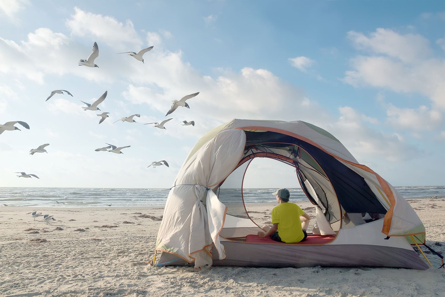 tent camping on lake mcconaughy
