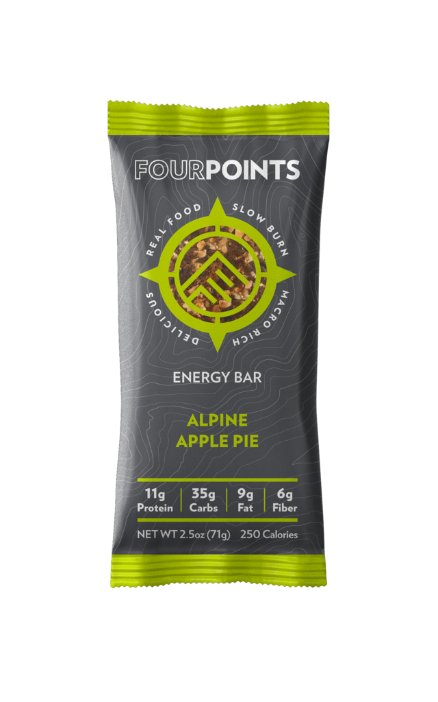 product image of fourpoints alpine apple pie energy bar on white background