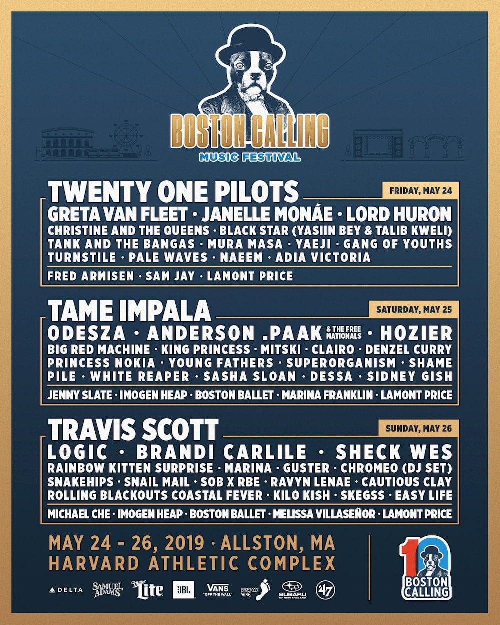 Botson Calling Festival Poster