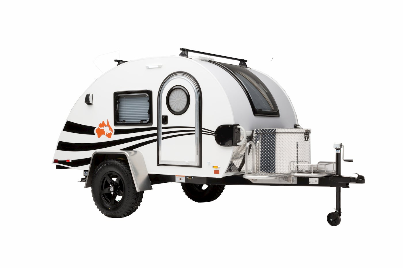 small camper in white