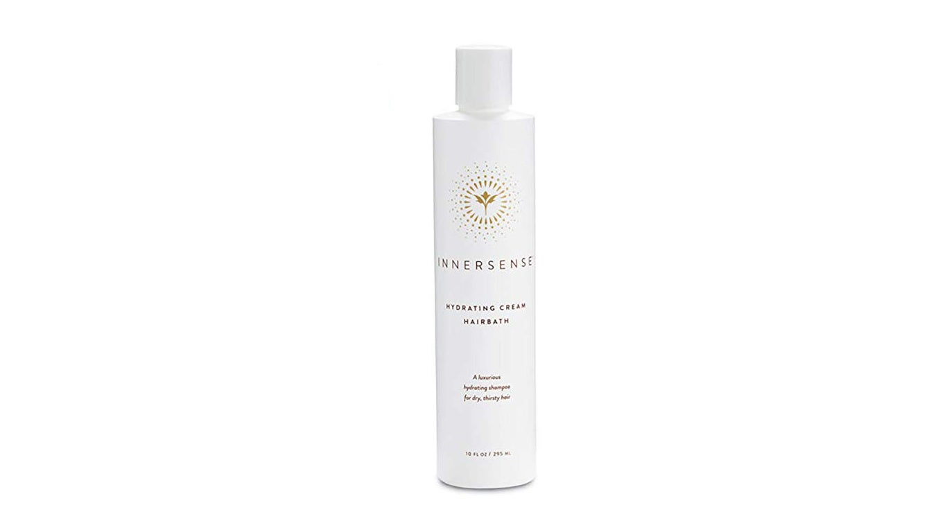 White bottle of Innersense Shampoo