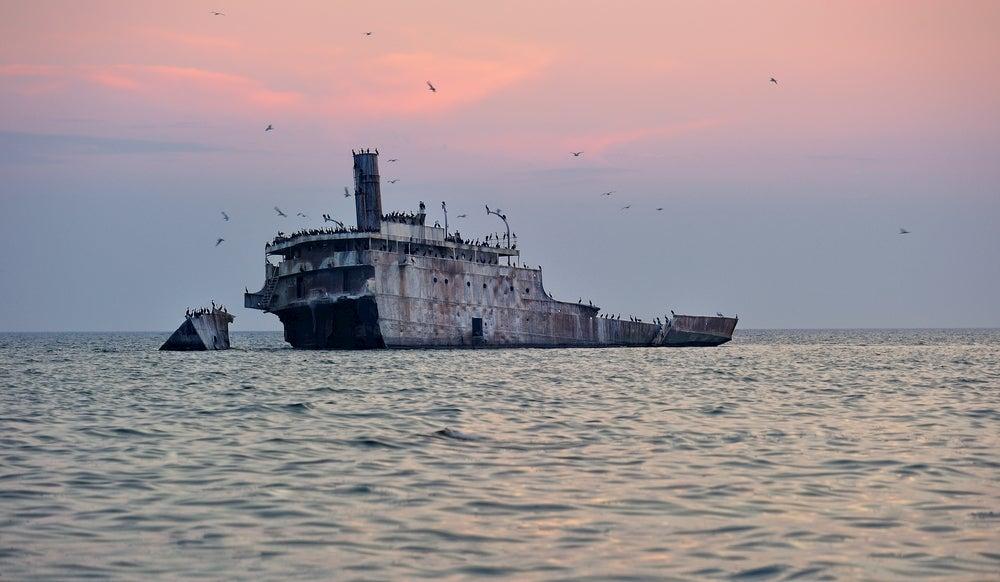 Shipwreck Francisco Morazan, South Manitou Island, Lake Michigan Sleeping Bear Dunes.