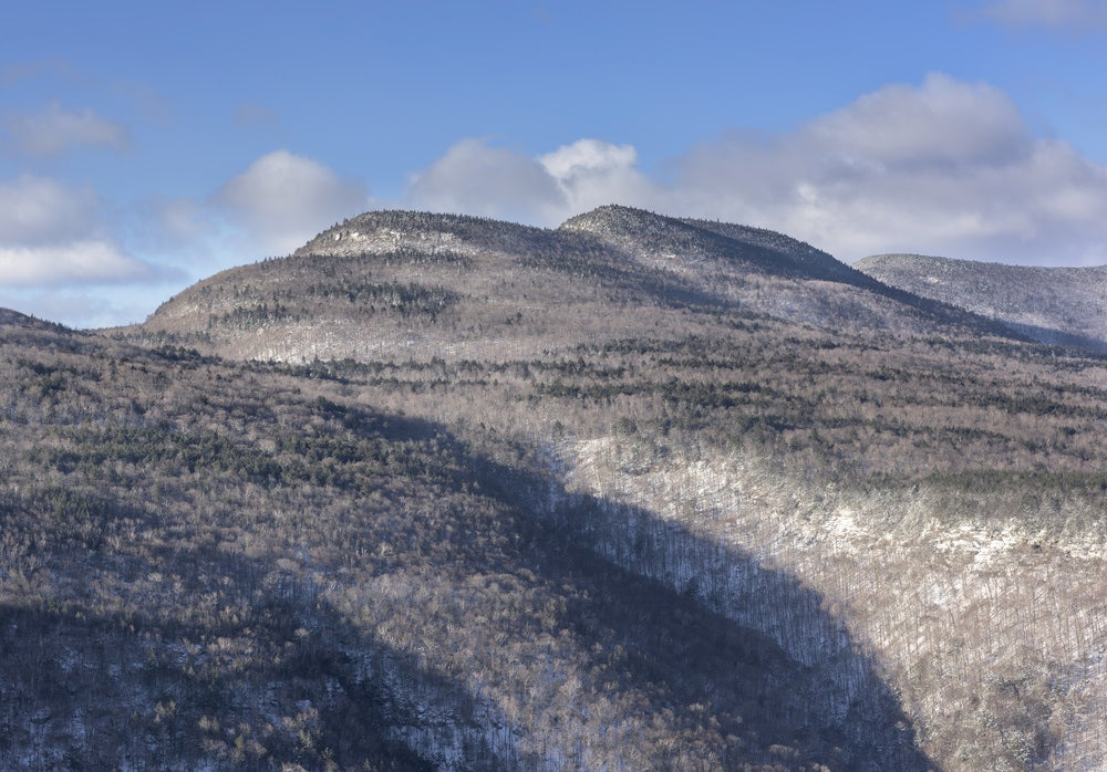 Snow dusted hills of the Indian Head Wilderness.