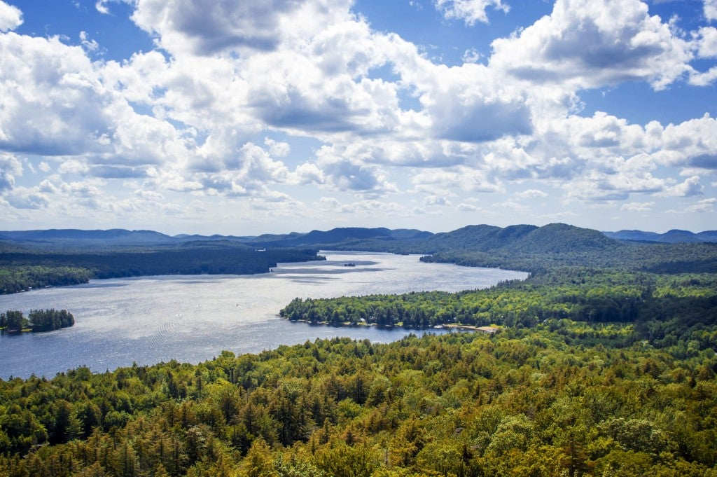 Aerial view of the Catskills.