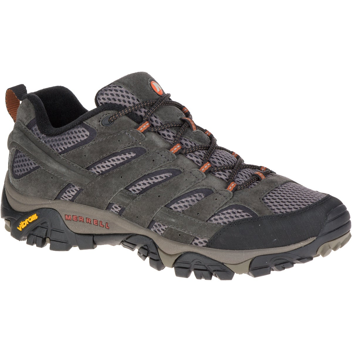 product image of a hiking shoe from merrell on a white background