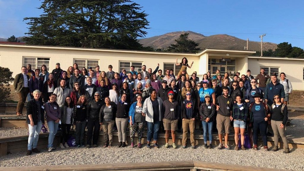 attendees of the 2018 LGBTQ outdoor summit