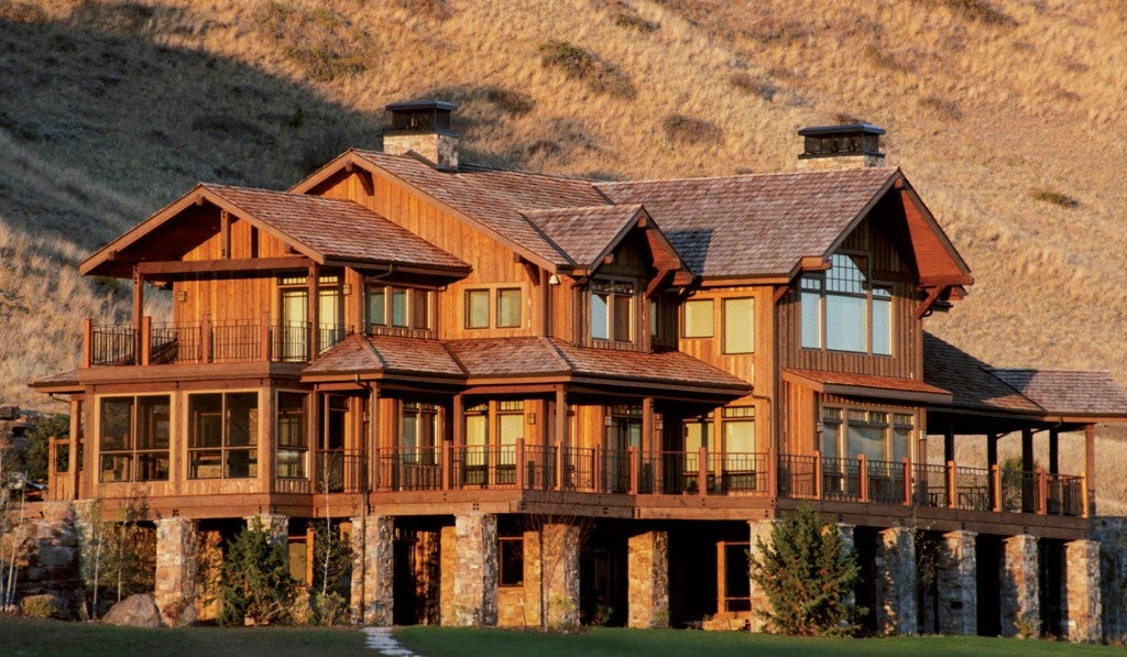 a rural hunting lodge in the backcountry of montana