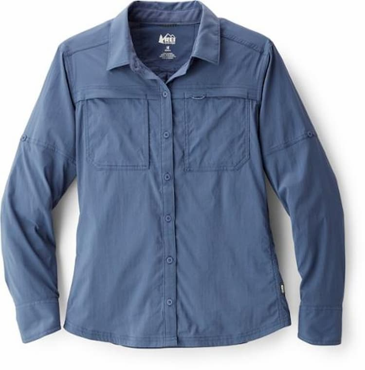 product image of a hiking shirt from REI on a white background