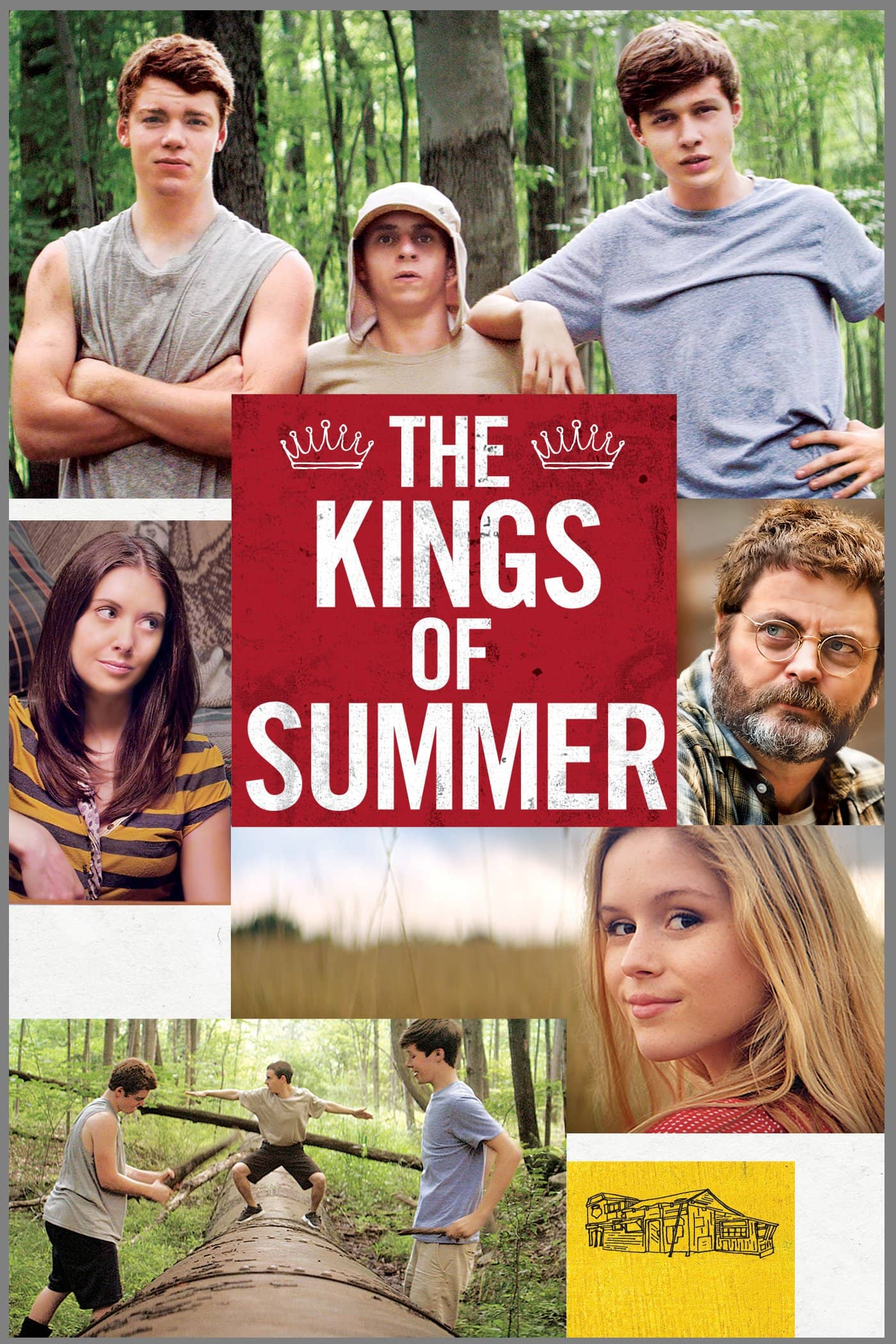 movie poster for the kings of summer