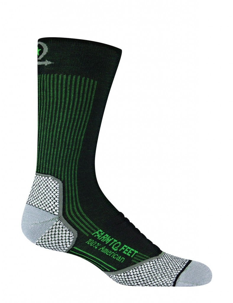 product image of a Farm to Feet running sock on a white background