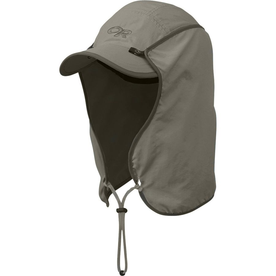 product image of an outdoor research sun runner hat on a white background