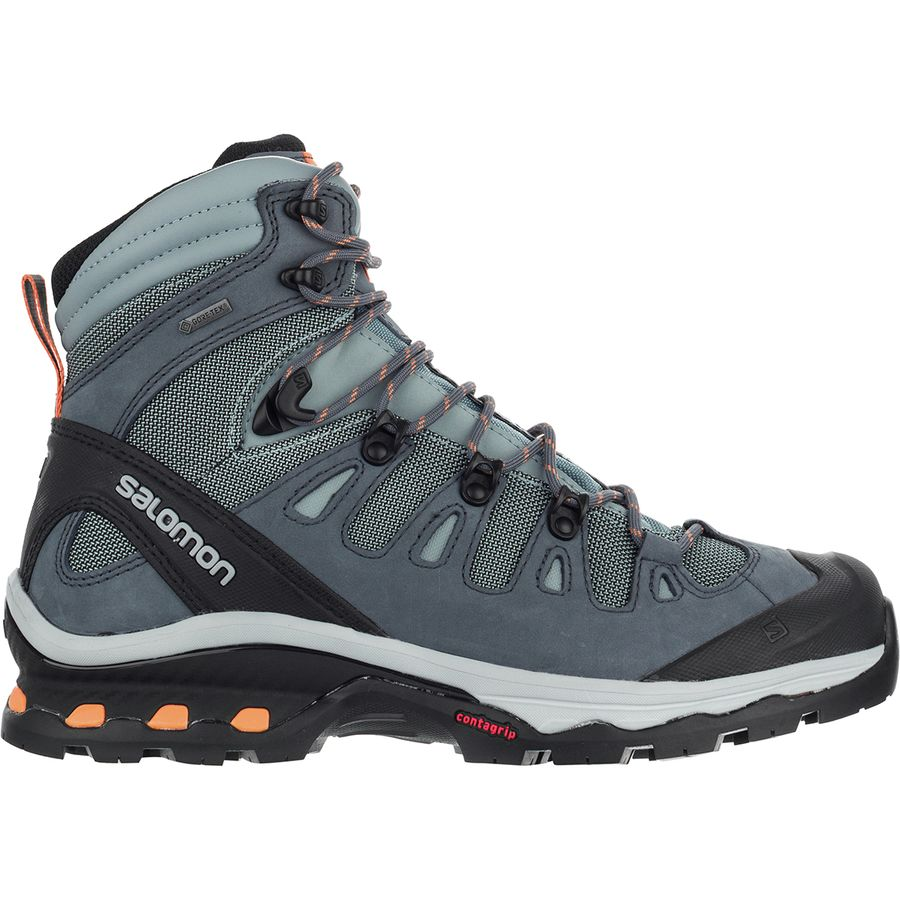 hiking boots from salomon on a white background