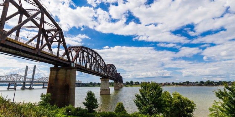big four bridge louisville kentucky camping