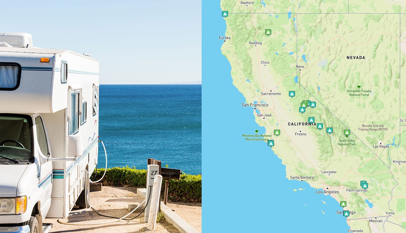 rv parks in southern california map Best Rv Campgrounds In California Camper Favorites For 2019