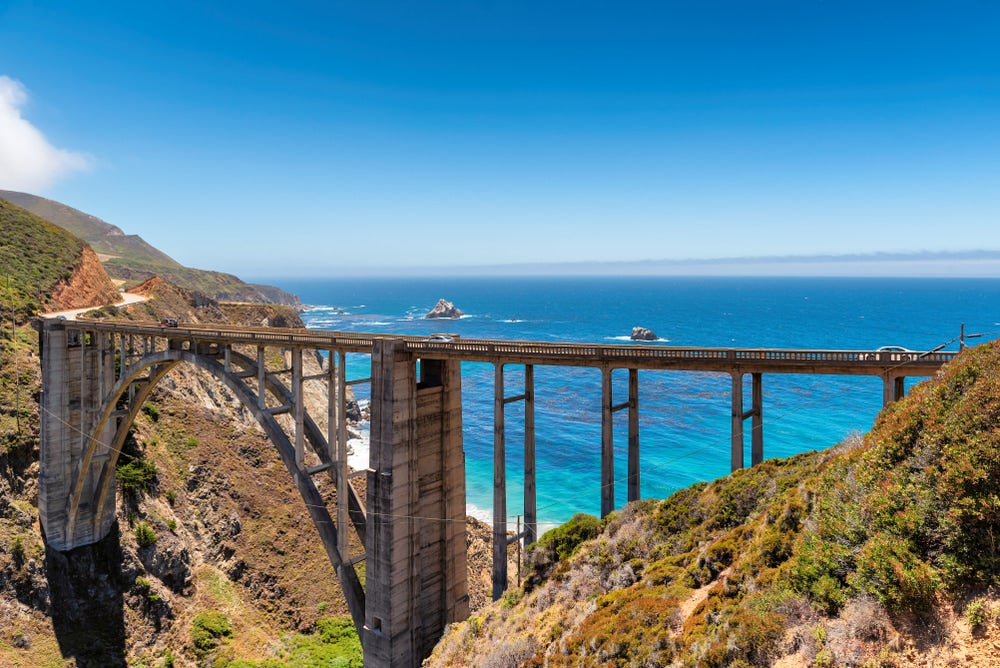 the bixby bridge over the pacific coast