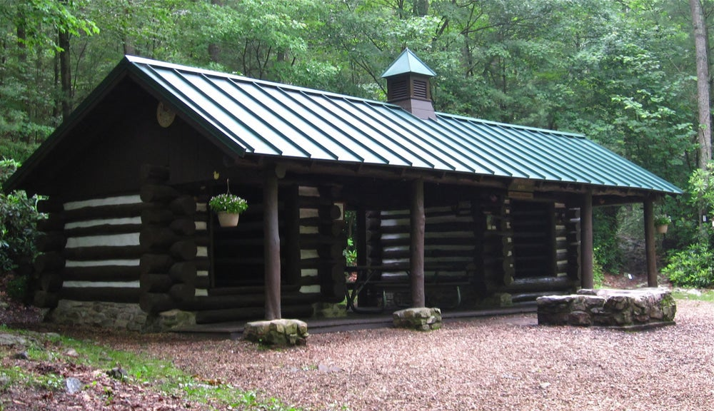 a trail cabin on the appalachian trail in pennsylvania