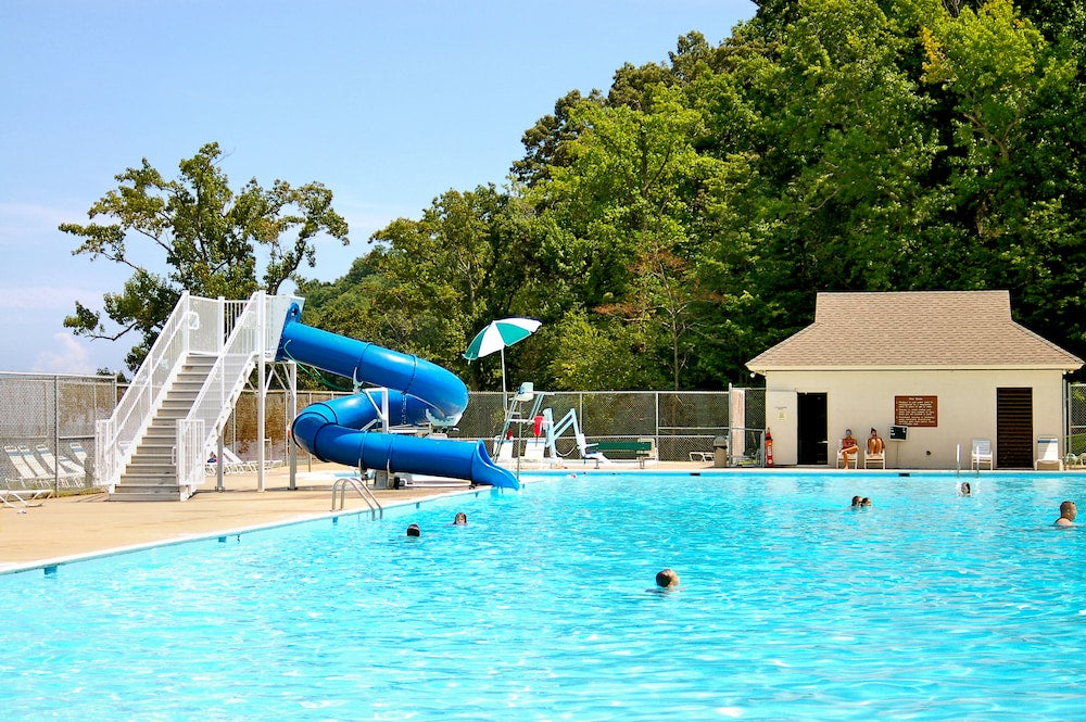 the swimming pool at westmoreland state park in virginia