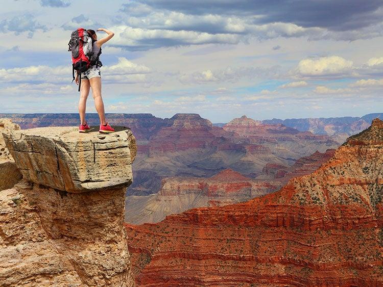 grand canyon hiker viewpoint