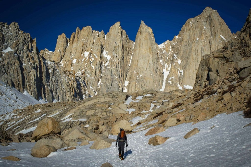 Hiker Heading Up to Mount Whitney