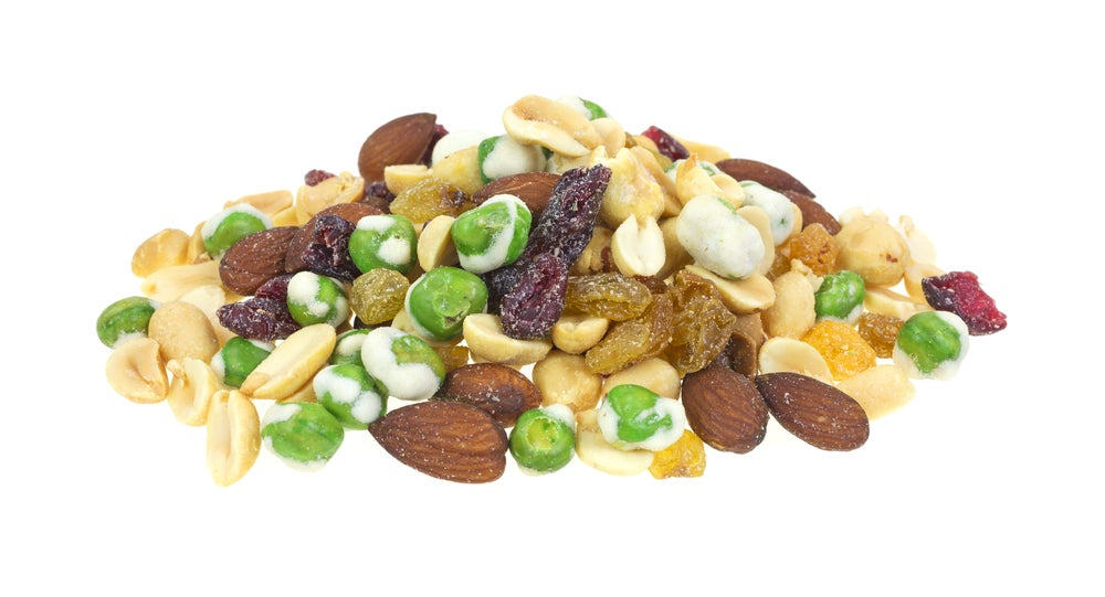 spicy wasabi peas trail mix